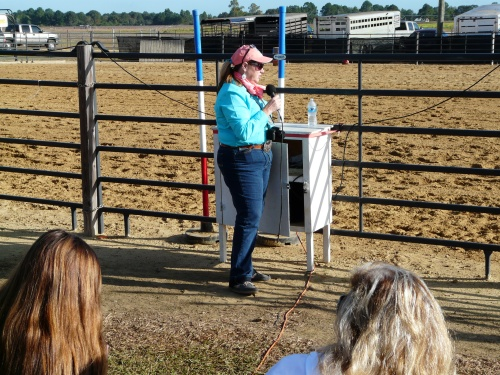 Thomas County 4-H Agent Cindy Wynn announces winners at Prefert Arena at the Sunbelt Expo