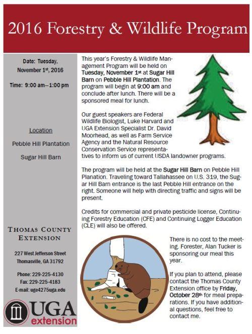 forestrywildlifeprogram-flyer-2016