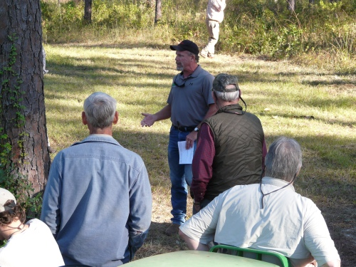 Mr. Luke Harvard with USDA Wildlife Division discusses beaver management.