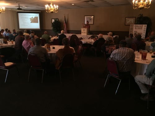 UGA Extension Specialist Dr. Lenny Wells presents at the 2017 Pecan Production Update